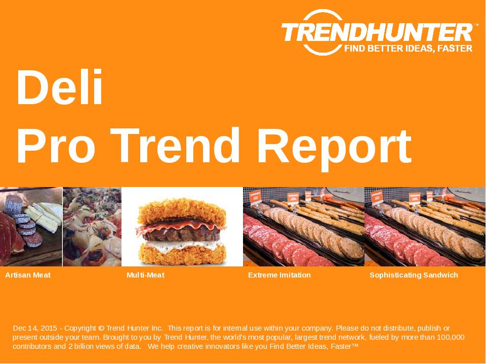 Deli Trend Report Research