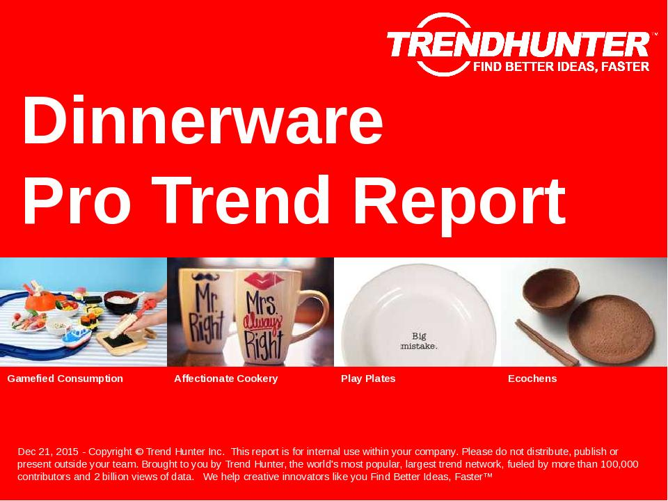 Dinnerware Trend Report Research