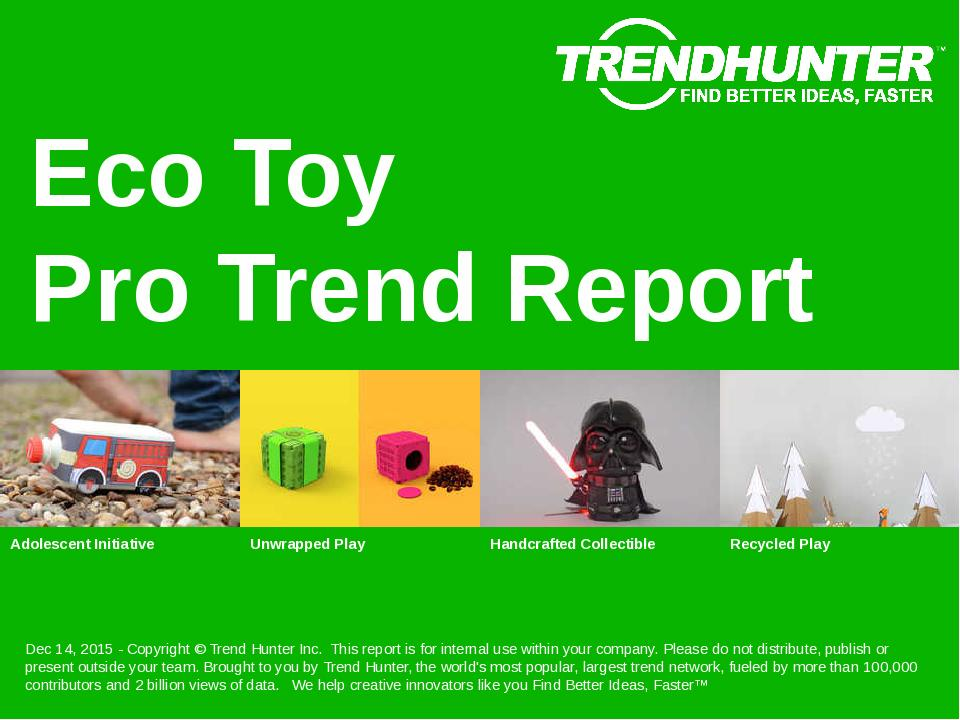 Eco Toy Trend Report Research
