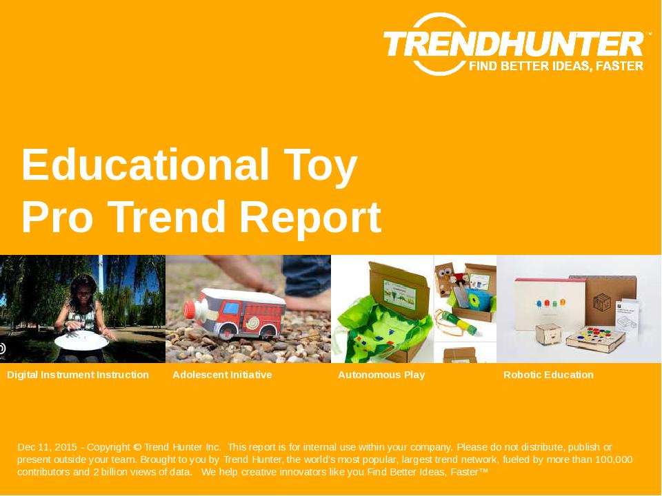 Educational Toy Trend Report Research