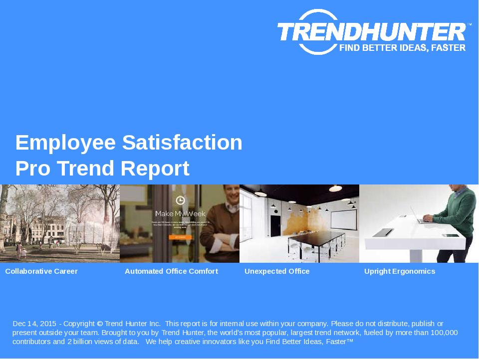 Employee Satisfaction Trend Report Research