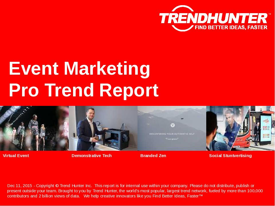 Event Marketing Trend Report Research