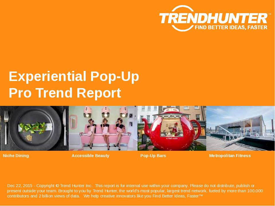 Experiential Pop-Up Trend Report Research