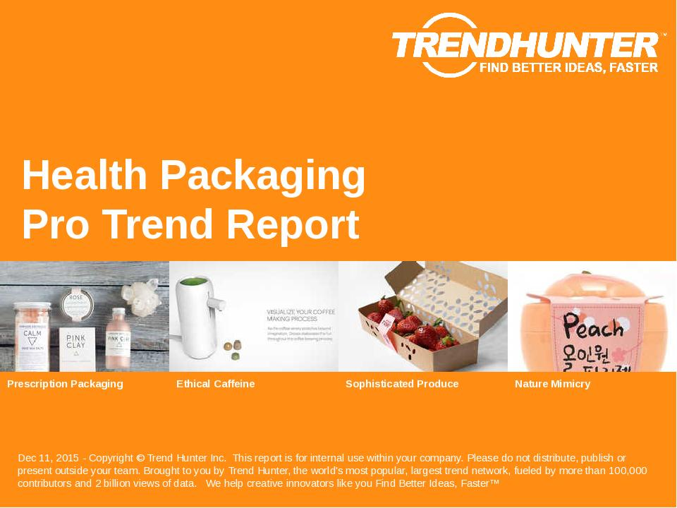 Health Packaging Trend Report Research