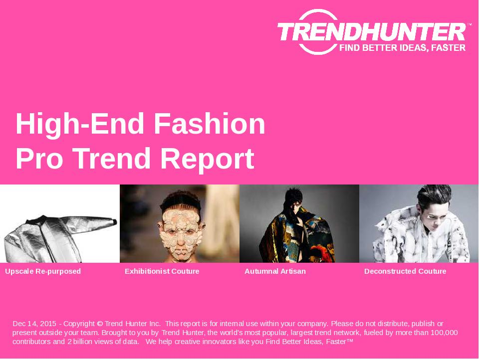 High-End Fashion Trend Report Research
