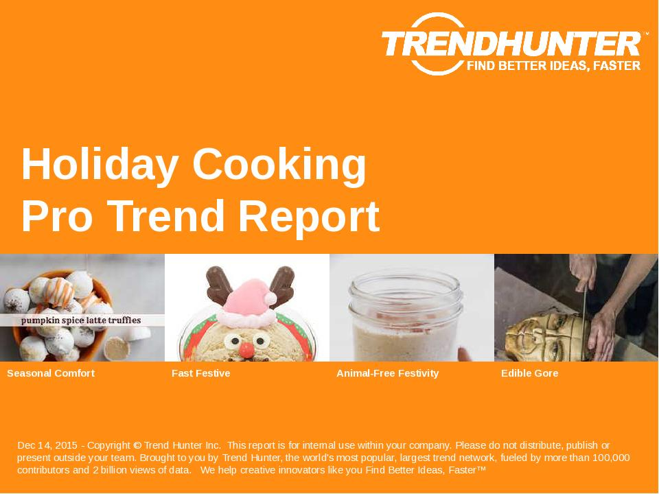 Holiday Cooking Trend Report Research