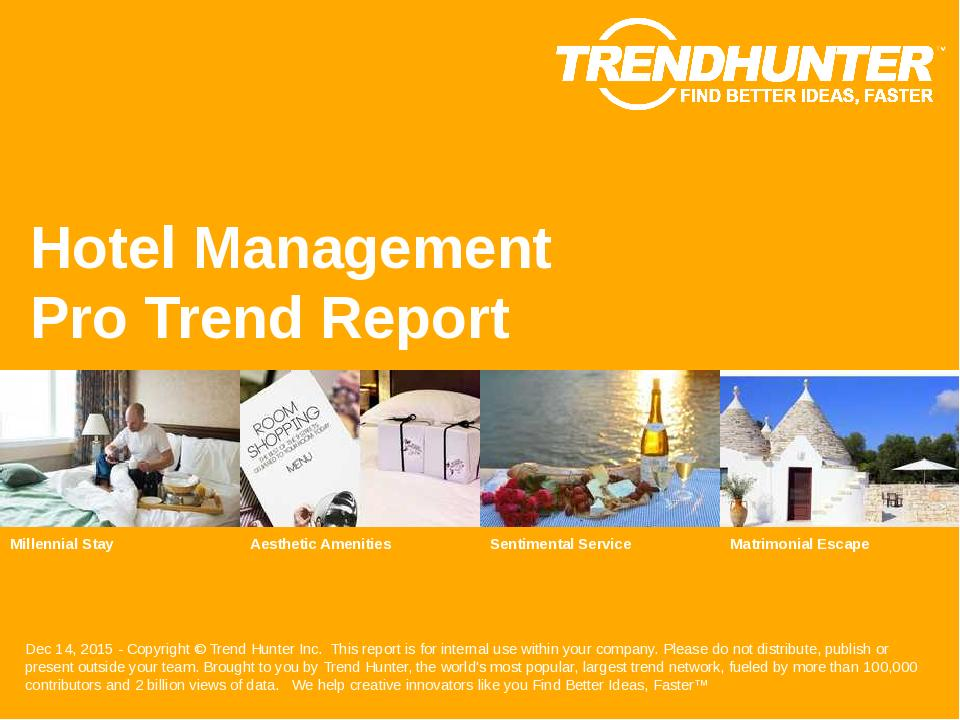 Hotel Management Trend Report Research