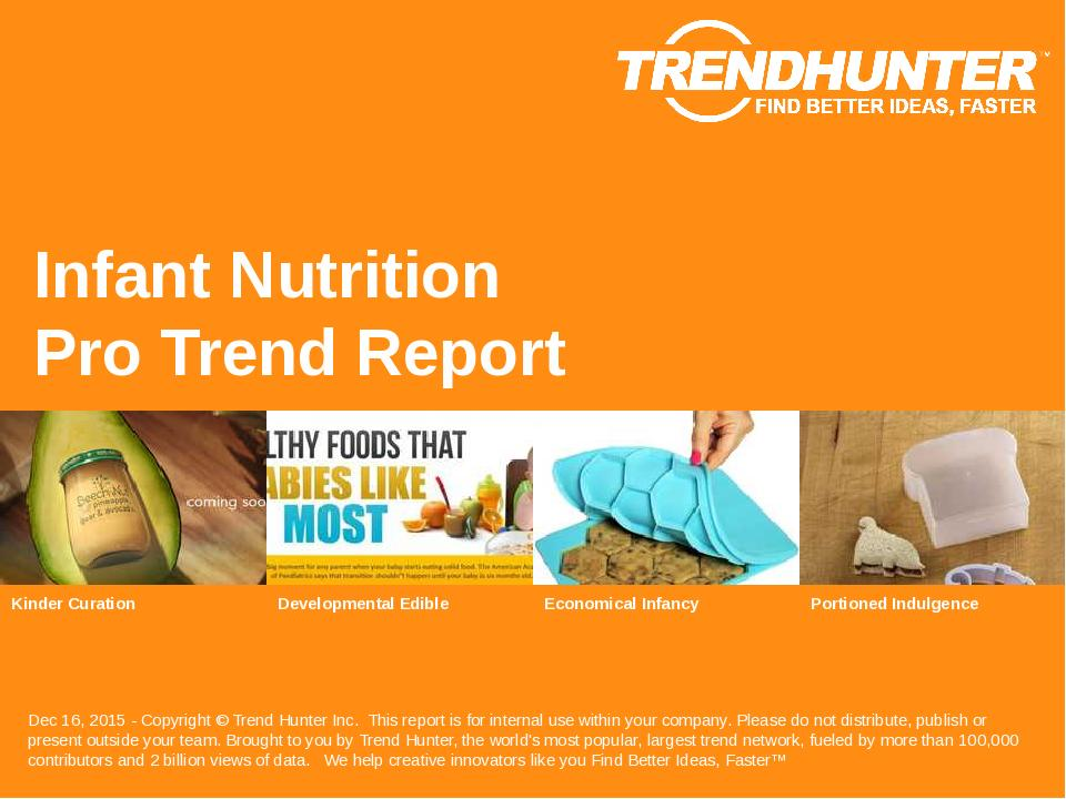 Infant Nutrition Trend Report Research