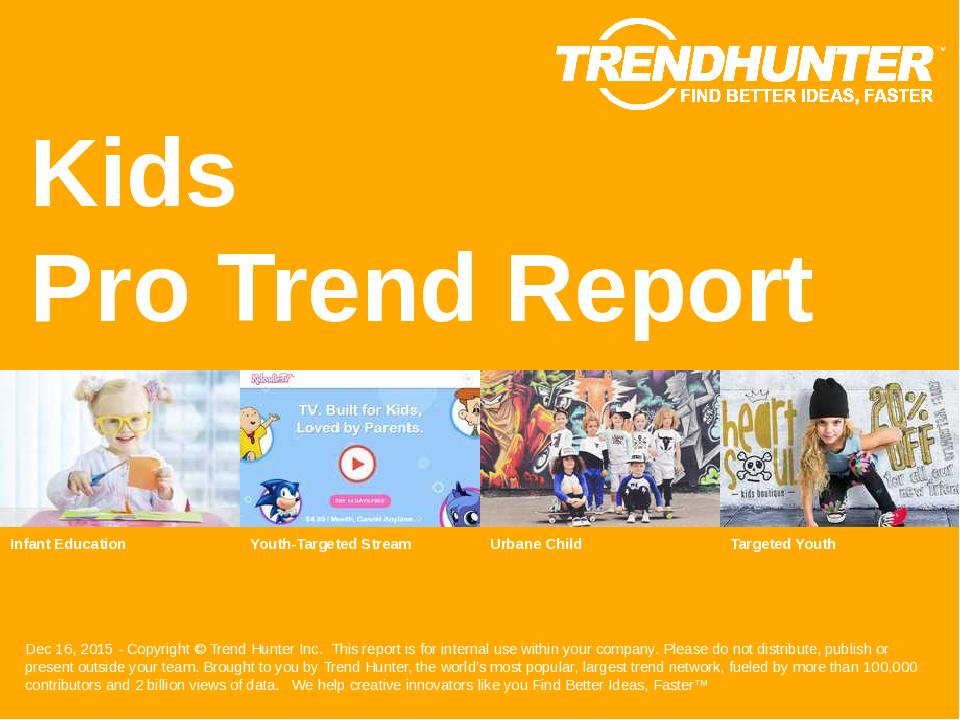 Kids Trend Report Research