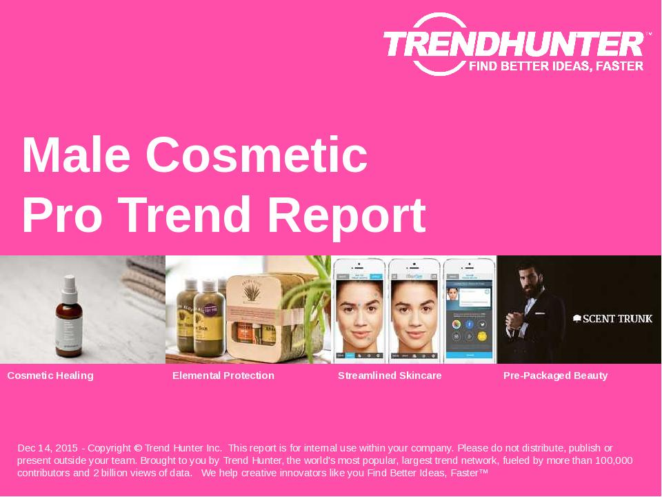 Male Cosmetic Trend Report Research