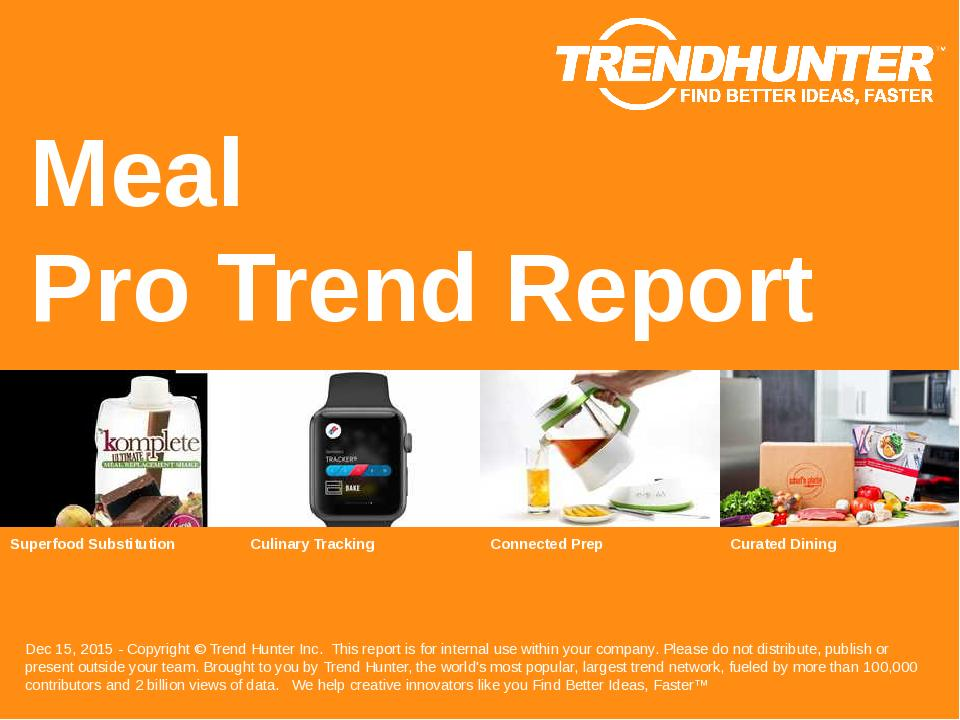 Meal Trend Report Research