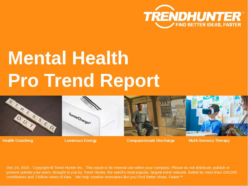 Mental Health Trend Report Research