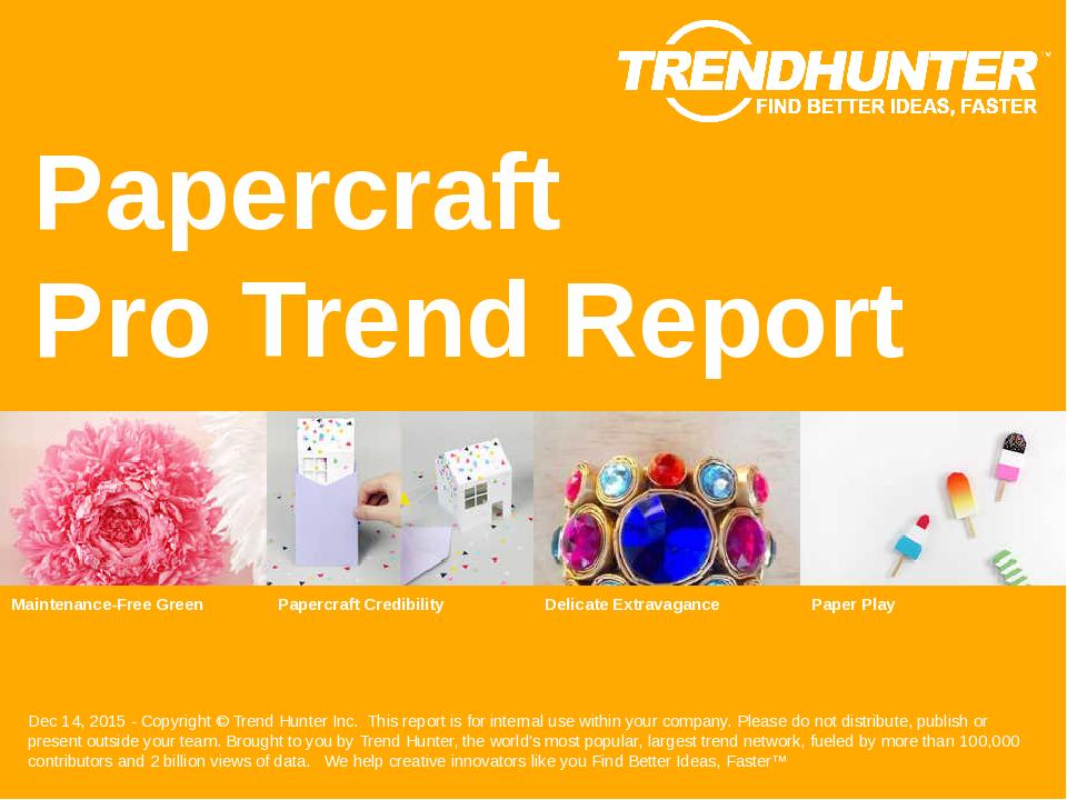 Papercraft Trend Report Research