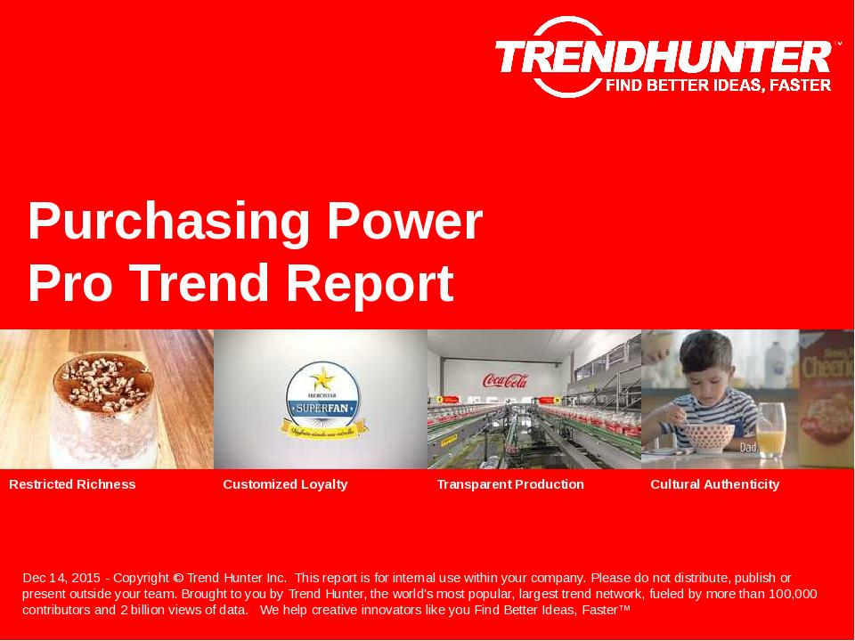 Purchasing Power Trend Report Research