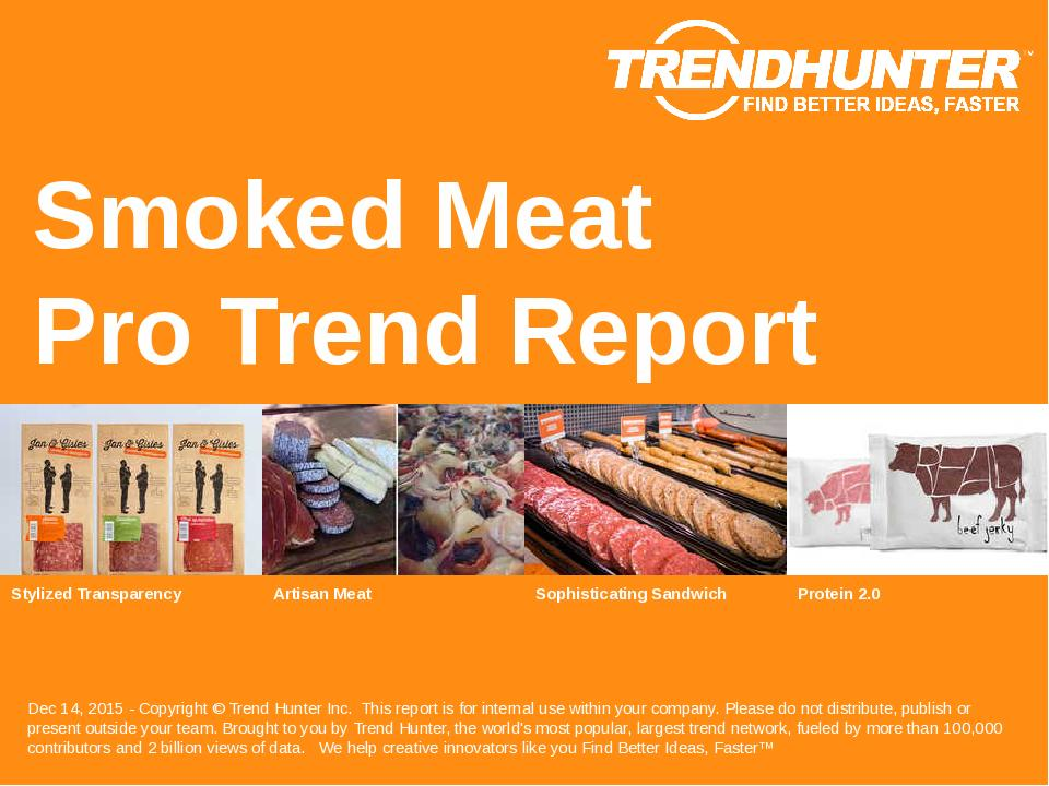 Smoked Meat Trend Report Research