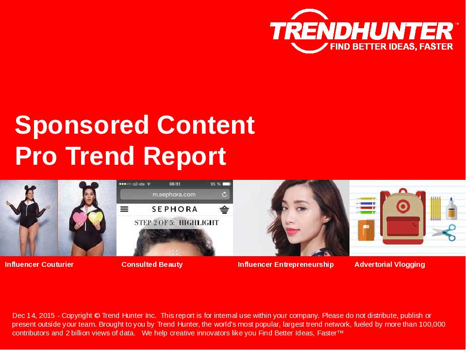 Sponsored Content Trend Report Research