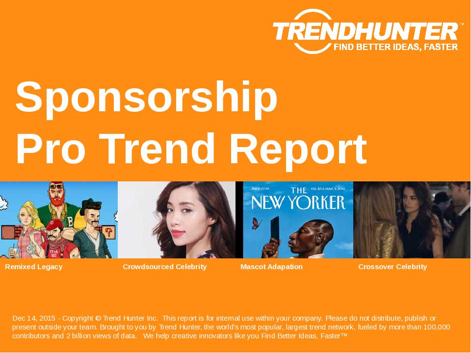 Sponsorship Trend Report Research