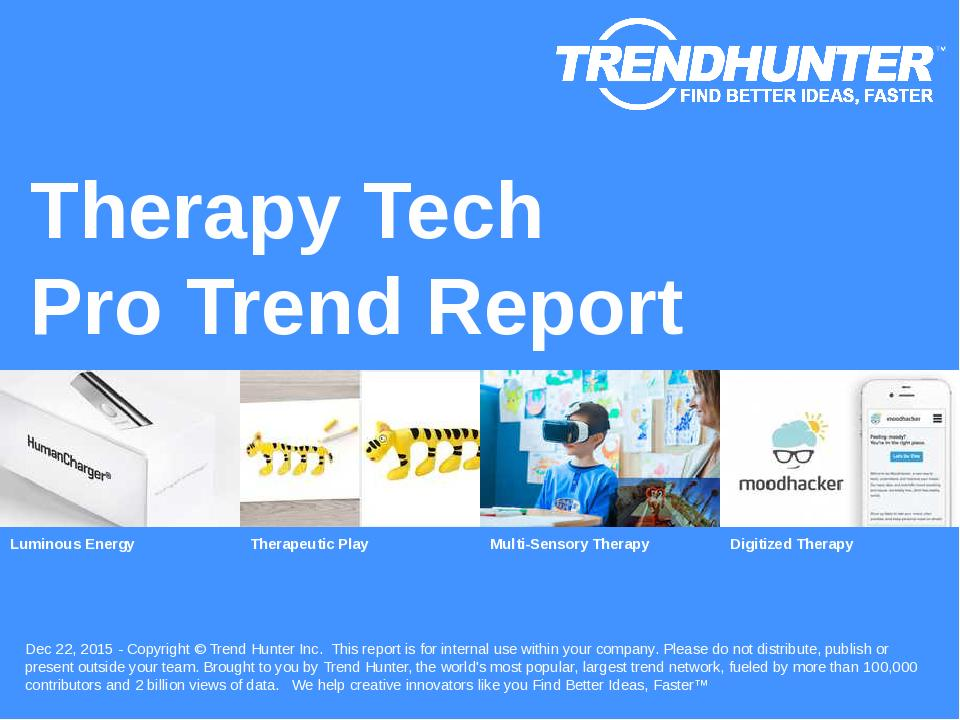 Therapy Tech Trend Report Research
