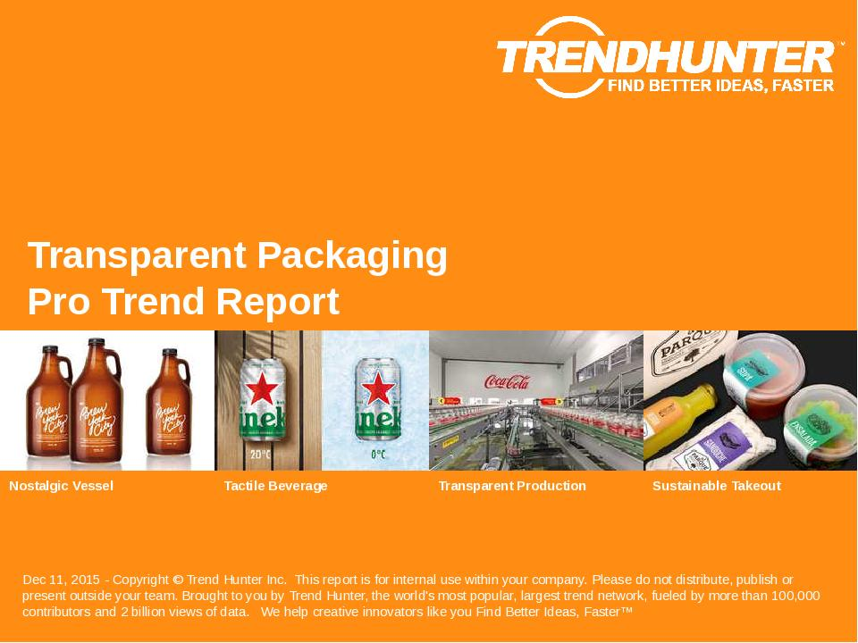 Transparent Packaging Trend Report Research