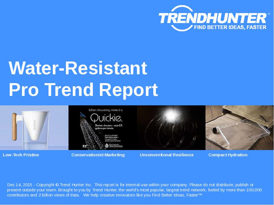 Water-Resistant Trend Report Research