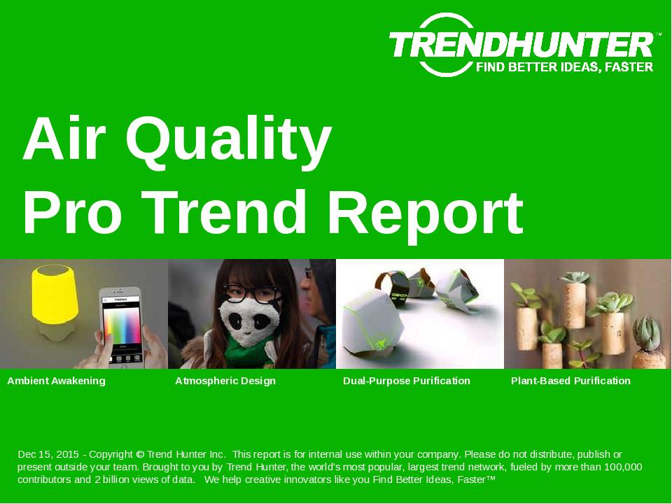 Air Quality Trend Report Research
