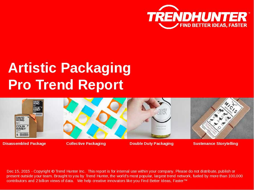 Artistic Packaging Trend Report Research