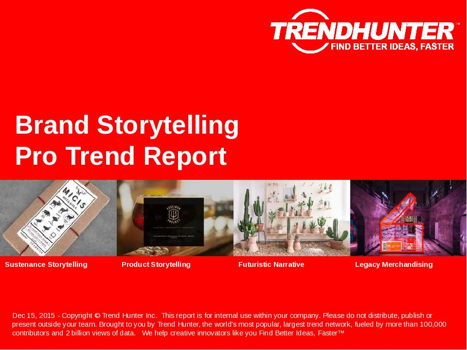 Brand Storytelling Trend Report Research