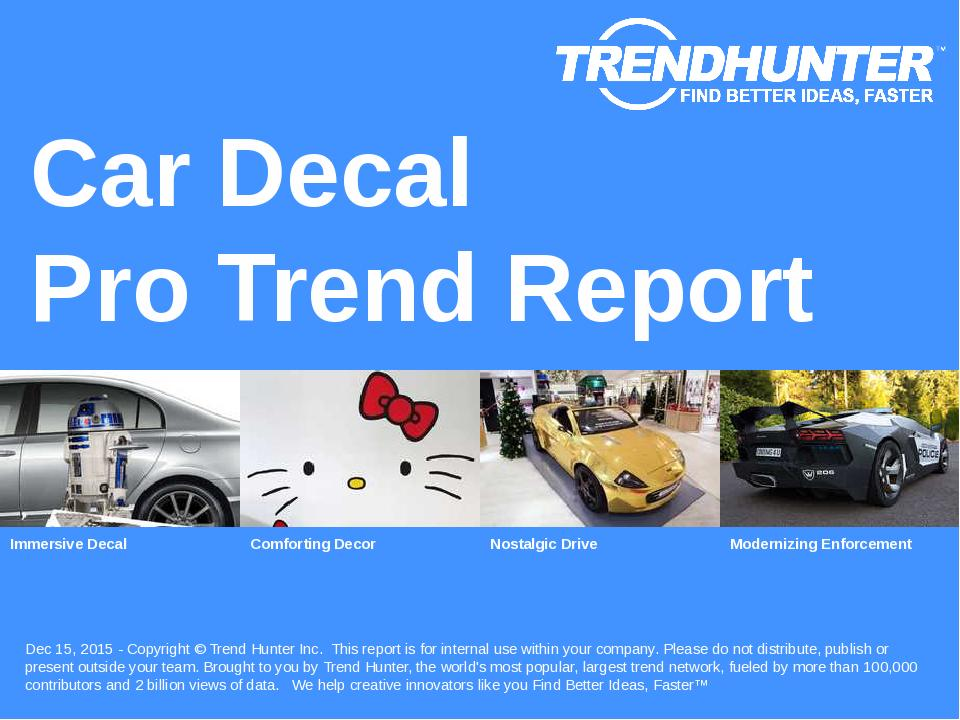 Car Decal Trend Report Research