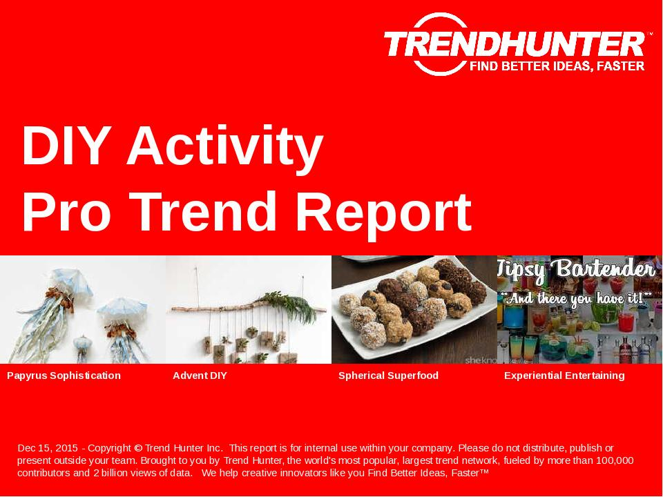DIY Activity Trend Report Research