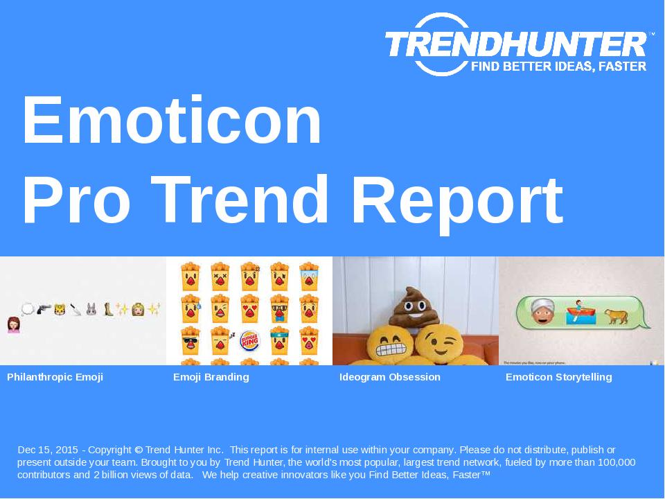 Emoticon Trend Report Research