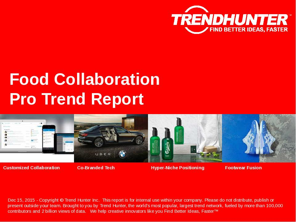 Food Collaboration Trend Report Research