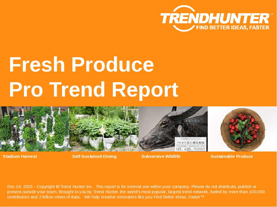 Fresh Produce Trend Report Research