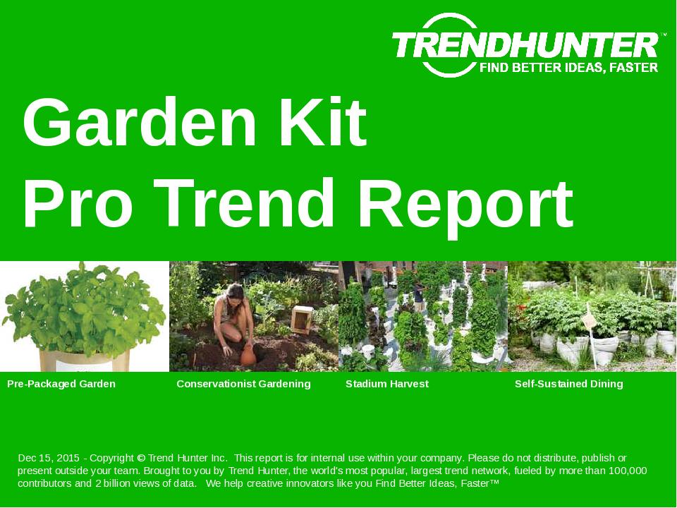 Garden Kit Trend Report Research