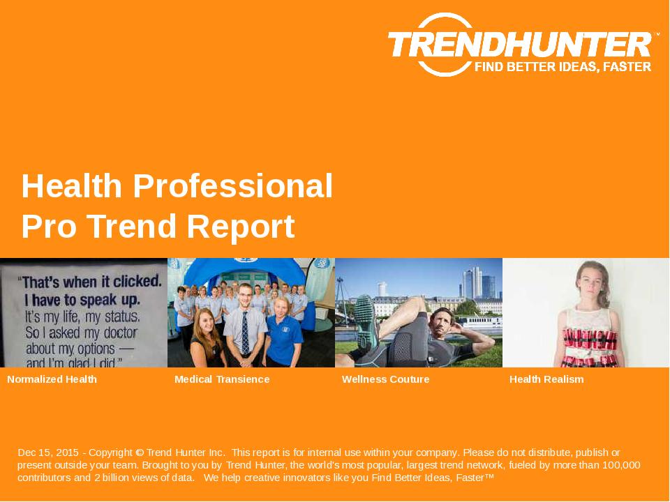 Health Professional Trend Report Research