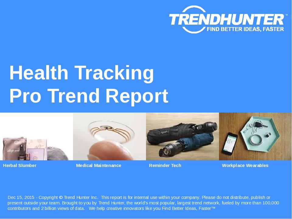 Health Tracking Trend Report Research