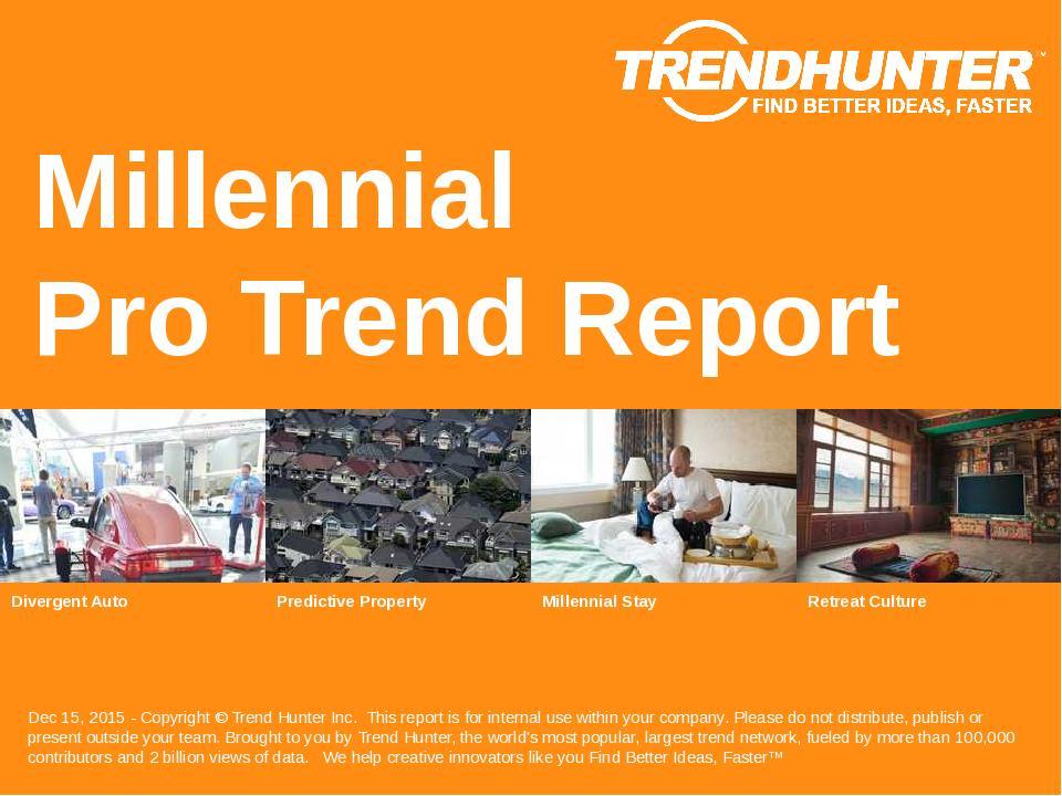 Millennial Trend Report Research