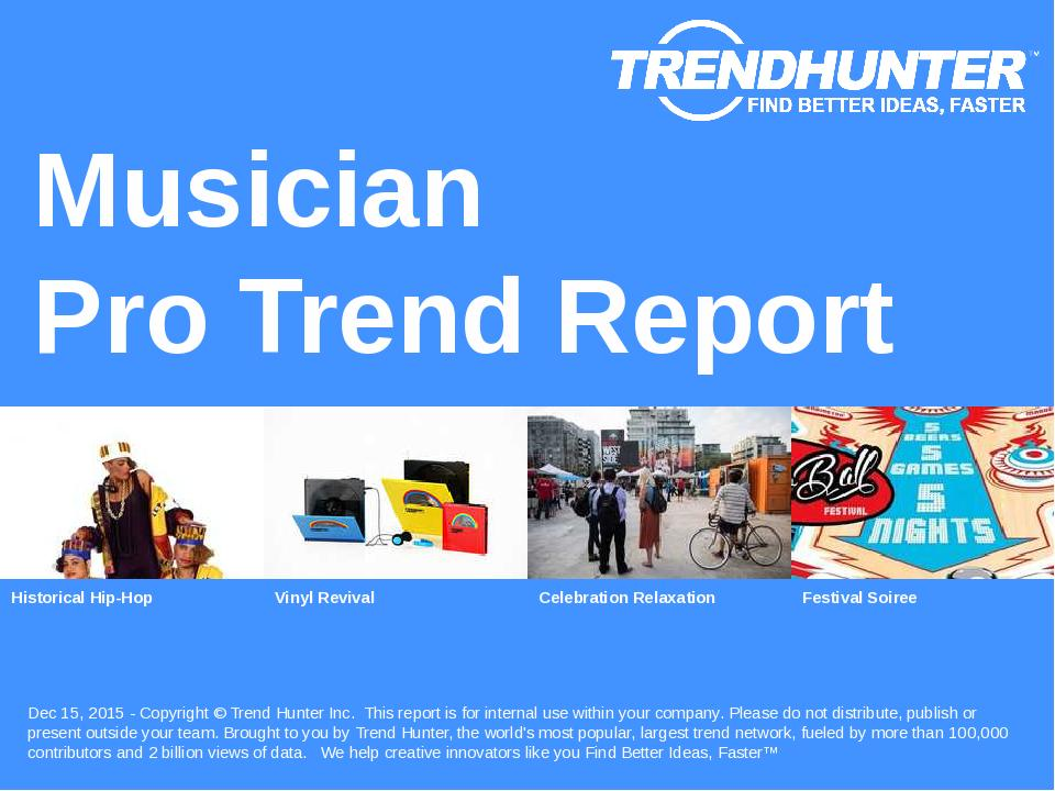 Musician Trend Report Research