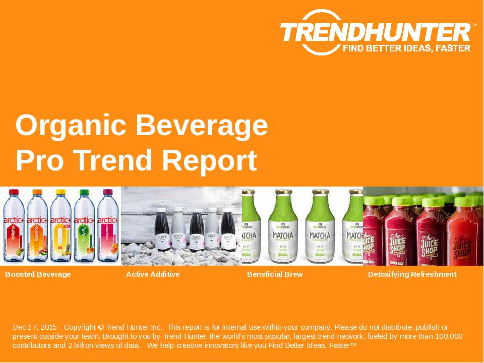 Organic Beverage Trend Report Research