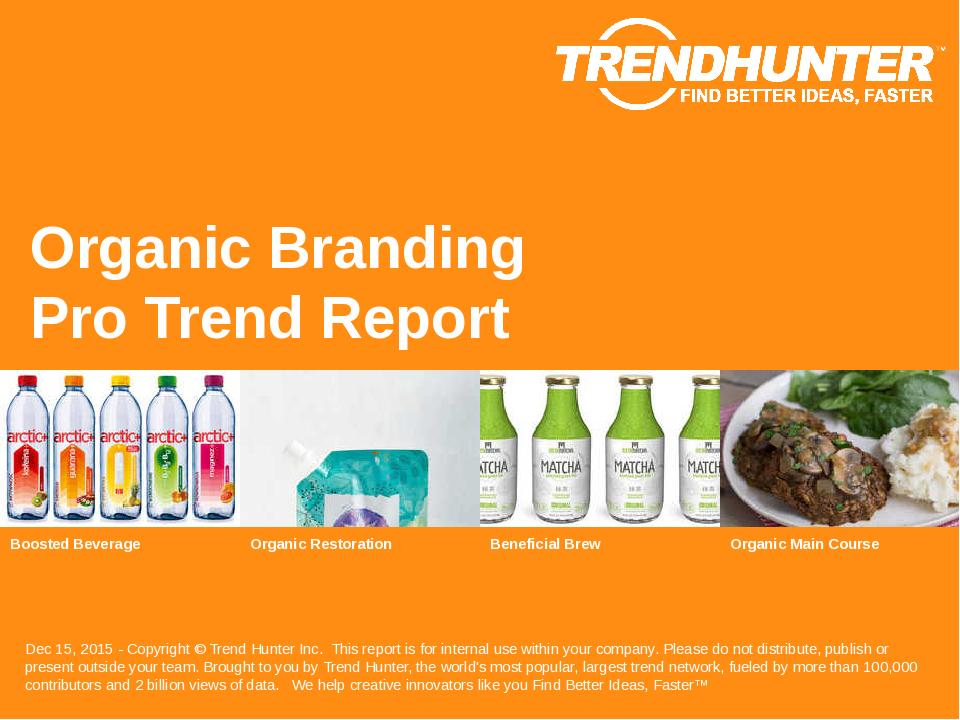 Organic Branding Trend Report Research