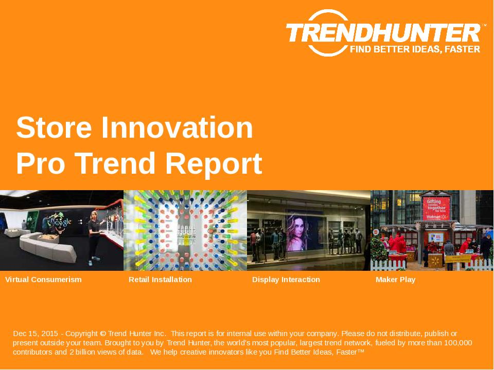 Store Innovation Trend Report Research