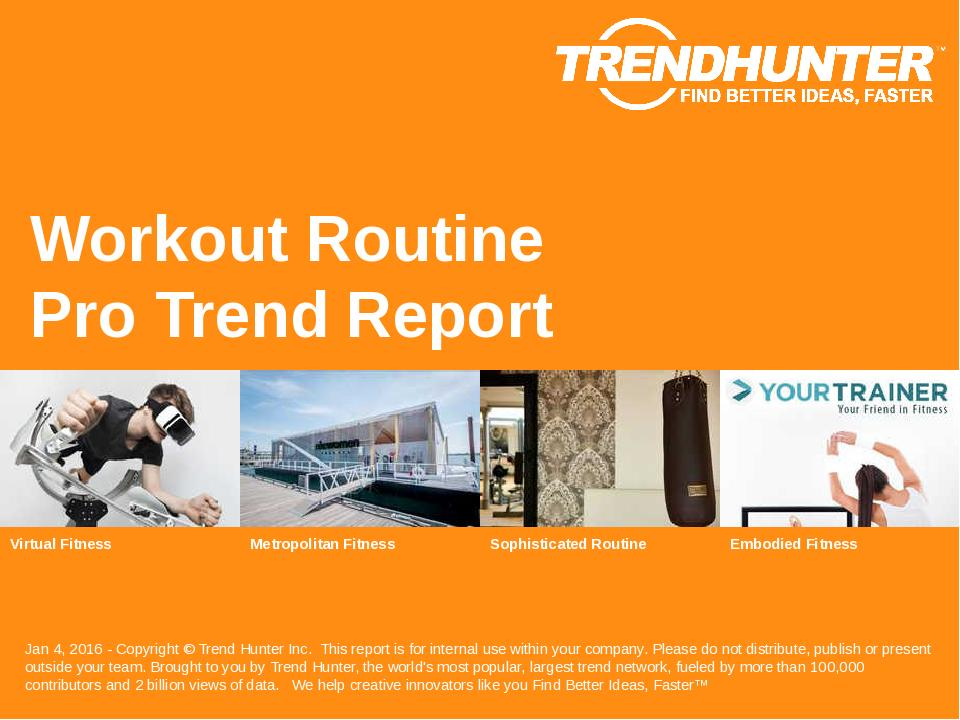 Workout Routine Trend Report Research