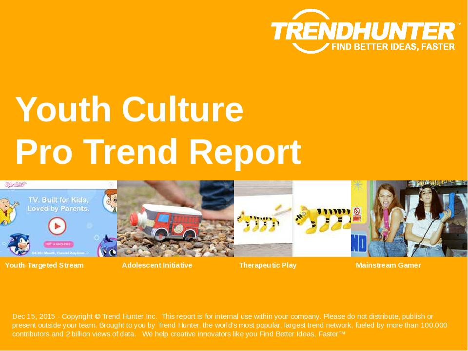 Youth Culture Trend Report Research