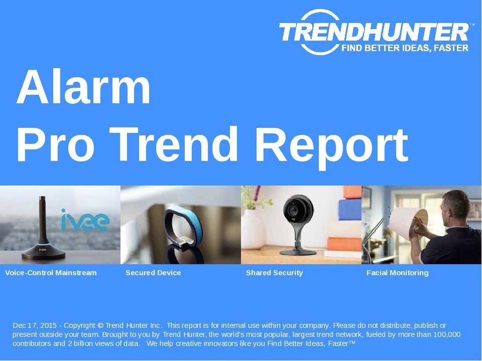 Alarm Trend Report Research