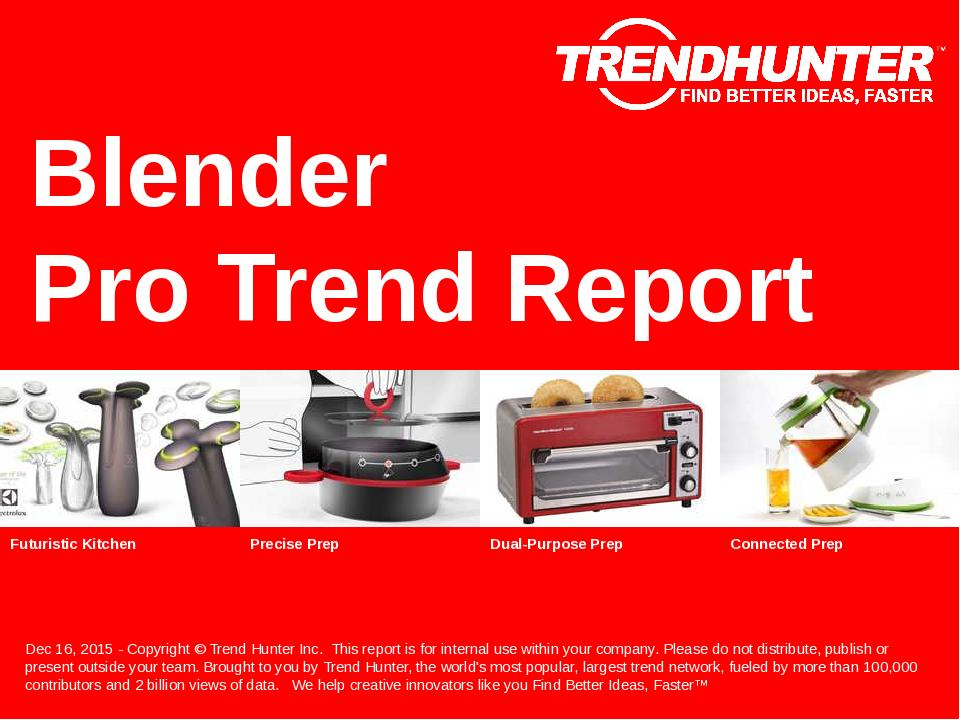 Blender Trend Report Research