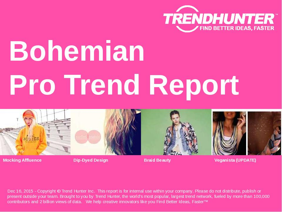 Bohemian Trend Report Research