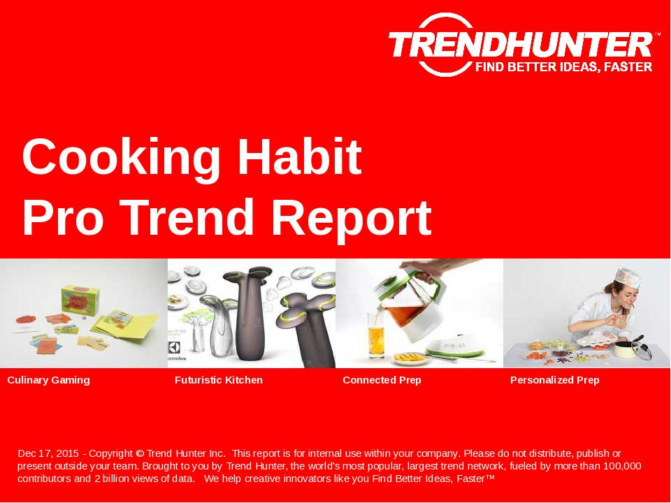Cooking Habit Trend Report Research