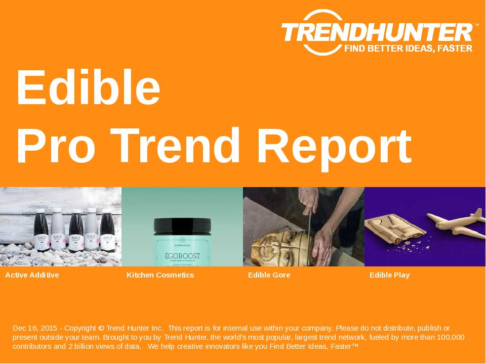 Edible Trend Report Research