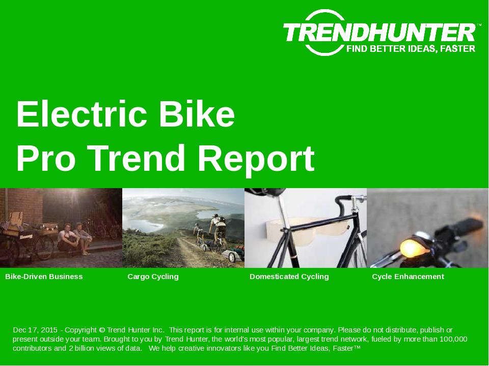 Electric Bike Trend Report Research