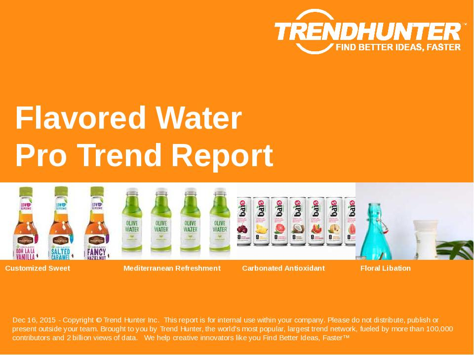 Flavored Water Trend Report Research