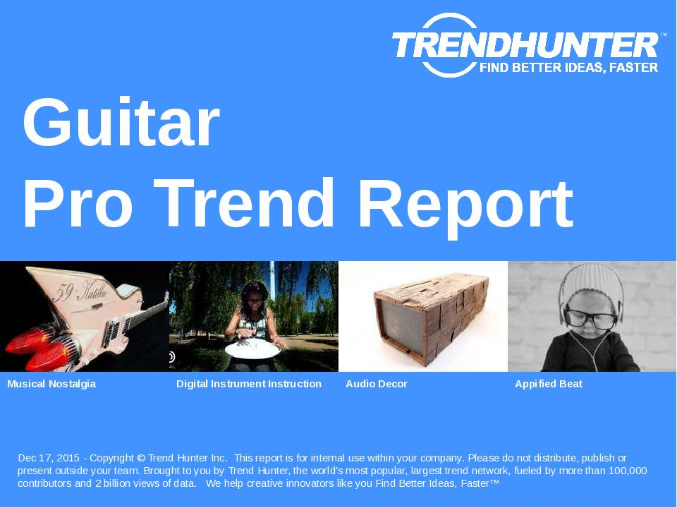 Guitar Trend Report Research